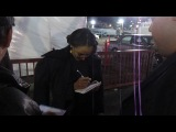 Kat Graham signing autographs while leaving Avalon after Hollywood Beauty Awards