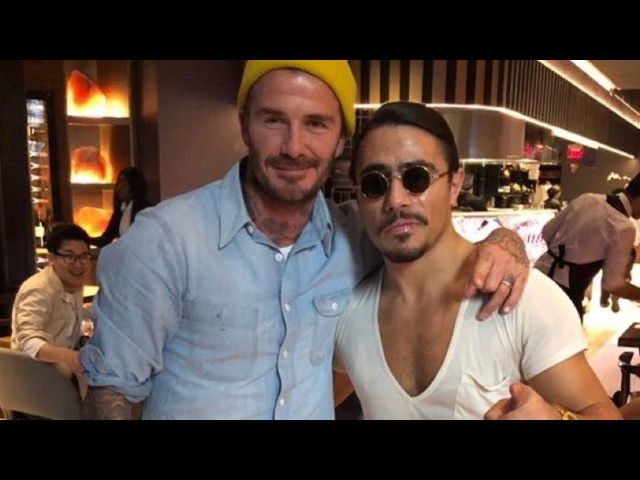 David Beckham Visit Nusret Steakhouse New York With His Family! Salt Bae Cutting For David Beckham!