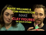 MAISIE WILLIAMS & TOM HIDDLESTON MAKE EACH OTHER OUT OF CLAY | Early Man INTERVIEW | The Hook