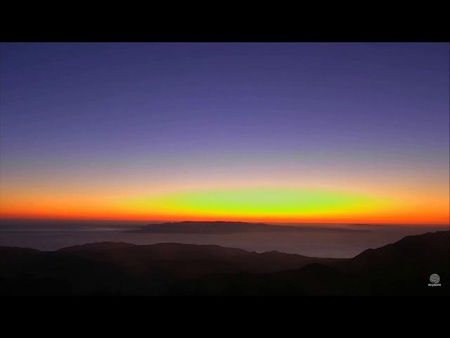02-16-18 Fantastic sunset (accelerated) over Mt. Diablo.