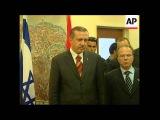 Erdogan meets Katsav, visits Yad Vashem