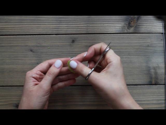 Листик георгина. Керамическая флористика