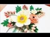 Paper Quilling Flower For beginner Learning Video 24 Paper Flower Card