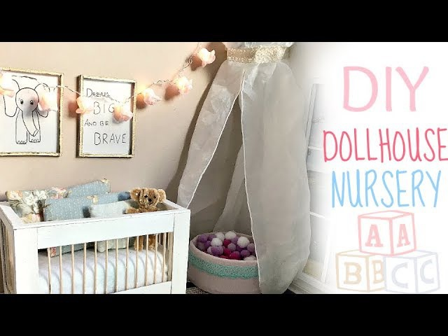 Doll craft: DIY NURSERY (baby crib/ ball pit/ decor)