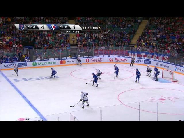 Моменты из матчей КХЛ сезона 16/17 • Удаление. Михал Глинка (Слован) отправился в штрафной бокс за подножку 23.08