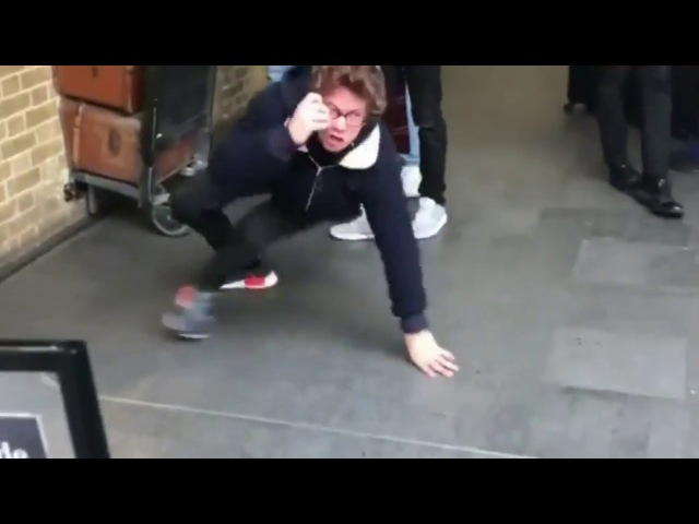 Fail Harry Potter prankster runs into wall at platform 9 34