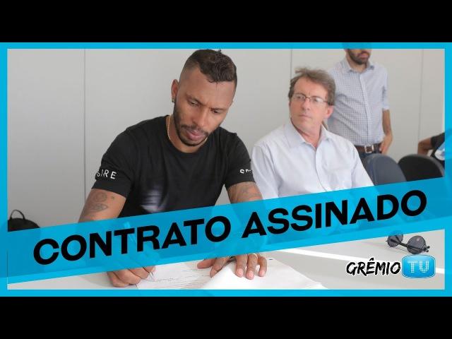 Paulo Miranda assina contrato e manda recado para a torcida l GrêmioTV