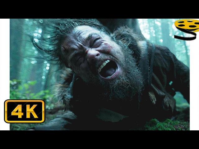 Хью Гласс(Леонардо ДиКаприо) против Гризли. Битва в Лесу   Выживший (2015)   4K ULTRA HD