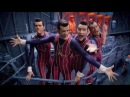 We Are Number One but instead Robbie and the gang perform A Cruel Angel's Thesis