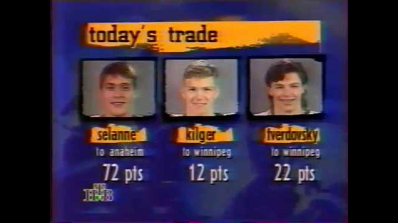Oleg Tverdovski talks about what is being traded before he was traded for Selanne (1995)