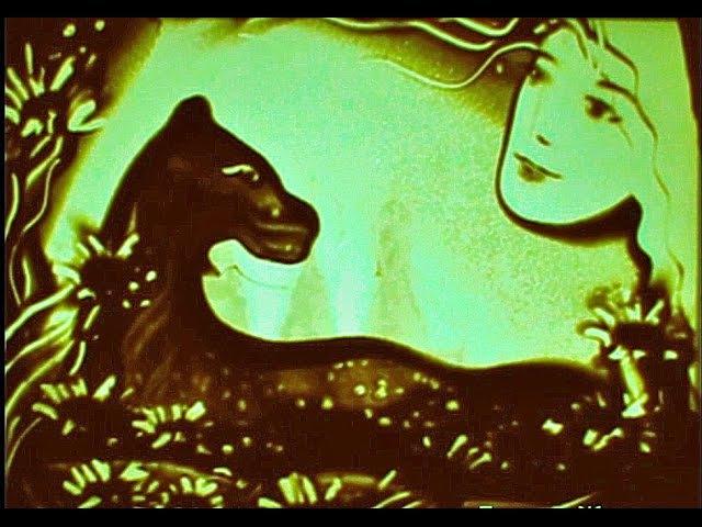 Легенда о тайской принцессе и золотой пантере. Песочная анимация Елены Жемиря.