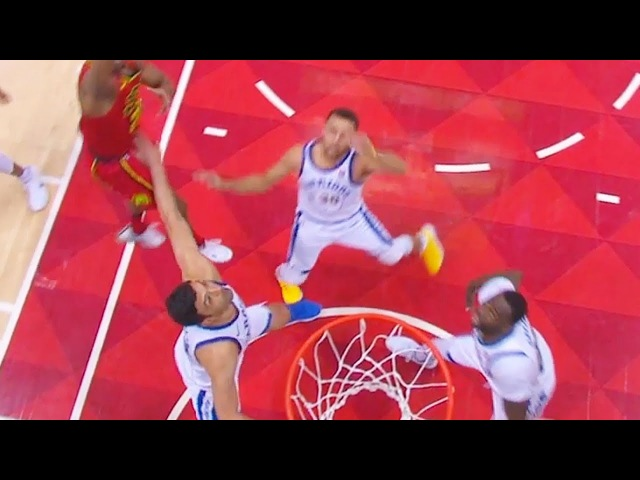 Stephen Curry Almost Injured By Zaza Pachulia Warriors vs Hawks March 2 2018