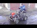 Самодельный гусеничный трактор, ходовые испытания по снегу