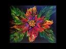 DA16 Acrylic Pour Black Bold Flower With Sandra Lett 012518