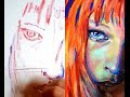 Milla Jovovichs Leeloo from The 5th Element high-speed painting progression
