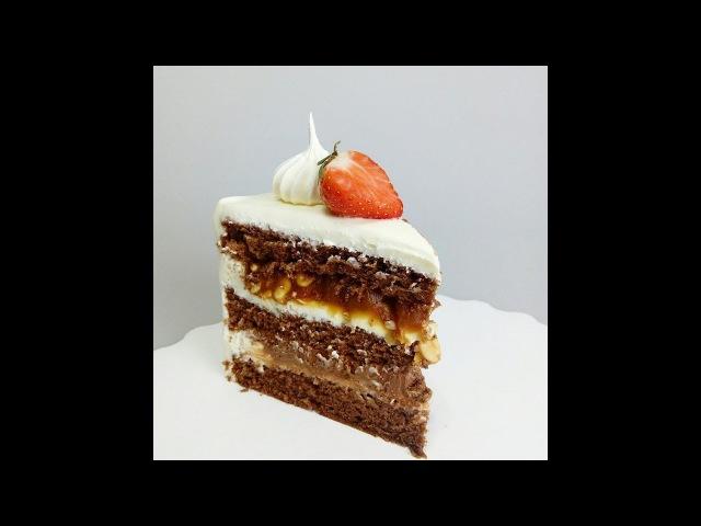 Рецепт карамели. Сборка торта Крепкий орешек (Сникерс) » Freewka.com - Смотреть онлайн в хорощем качестве