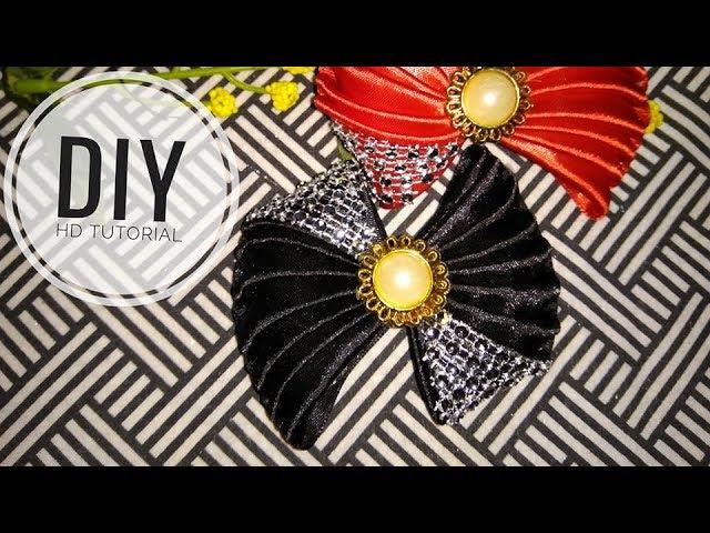 DIY - cara membuat bros dasi kupu kupu