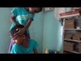 Amazing Kid Head Massage with Oil  CS ASMR Son,,