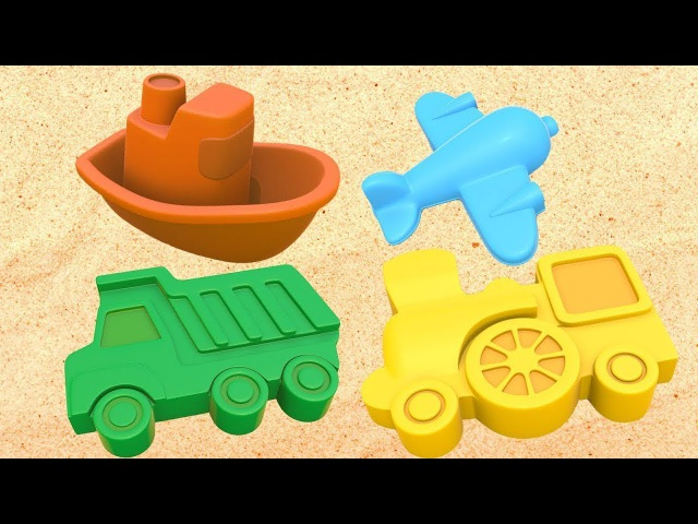 Cartoni per bambini in italiano-Imparare i colori con le torte di sabbia-Giochi sulla spiaggia