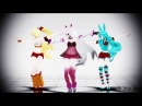 Follow The Leader MMD FNAF DL Mangle Jess Jessi