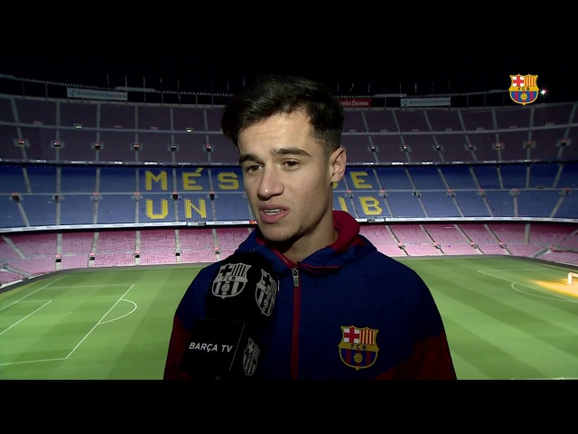 Philippe Coutinho: Es un sueño estar aquí