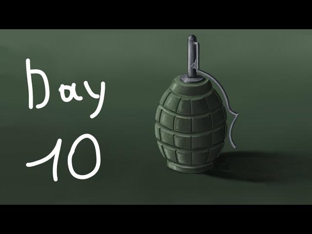 Ускоренное рисование гранаты в Gimp (День 10) Speedpaint grenade in gimp (day 10)