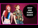 KPOP IDOLS DOING KKAP FUNNY DANCES - EXO BTS TWICE GOT7 ETC