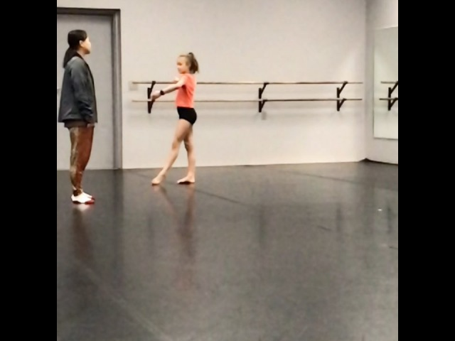 """Peyton Evans Official on Instagram: """"SLO MO! Working on my calypso leap! Trying to get more airtime @amberstrong12 ! dancer danceislife danceisa..."""