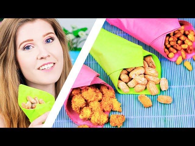 СНЕКИ ДЛЯ ВЕЧЕРИНКИ | Попкорн из курицы, орешки в карамели