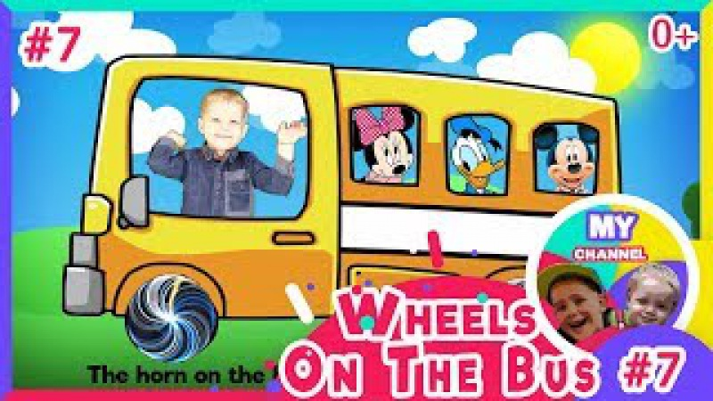 Mickey Mouse learn colors with The Wheels On The Bus nursery rhymes song for kids babies with lyrics