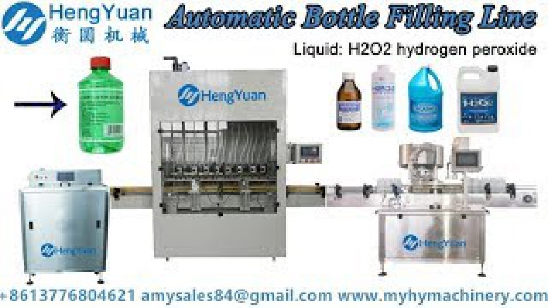 Automatic bottle filling line for 500ml hydrogen peroxide solution liquid filling machines
