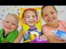 Игры для детей ПИРОГ В ЛИЦО Настя Ксюша Вова и Взбитые сливки Сладкая жизнь