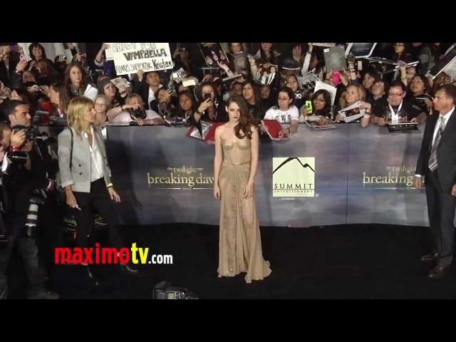 Kristen Stewart, Robert Pattinson, Taylor Lautner TWILIGHT Breaking Dawn Part 2 Premiere ARRIVALS