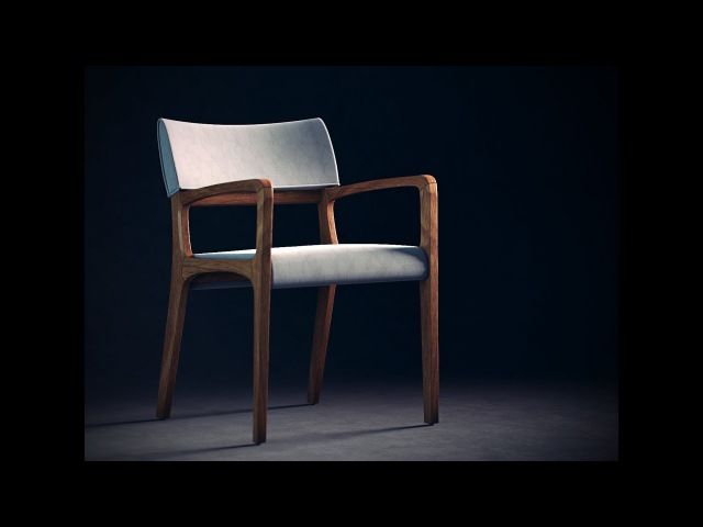 Modeling and Unwrapping Furniture 3ds Max - Time Lapse
