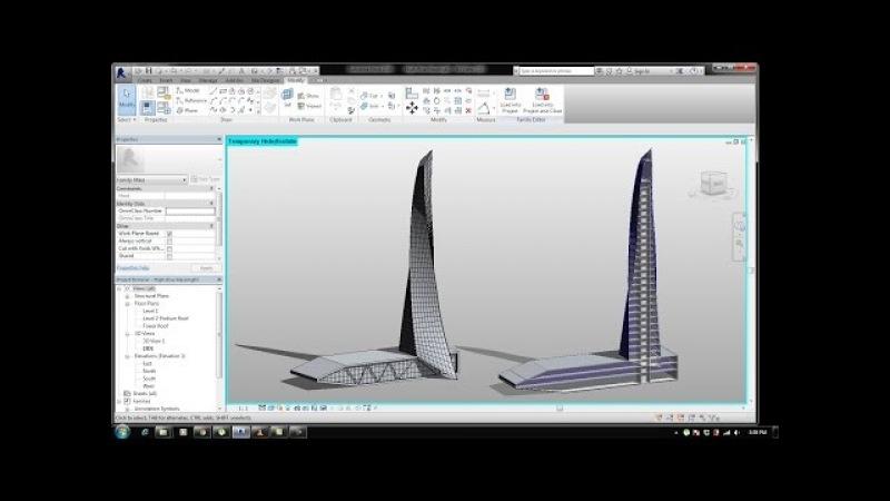 BIM - Revit 3D Massing 01 Organic High rise Building l Concept Tower