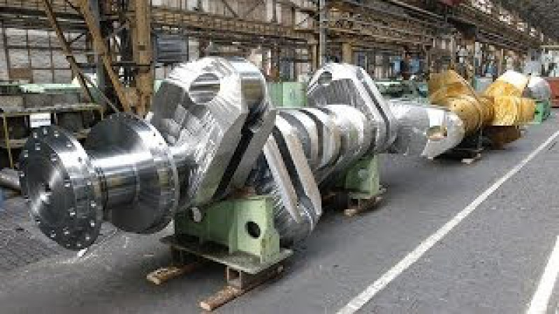 How to produce Big Crankshaft forging and machining whole process