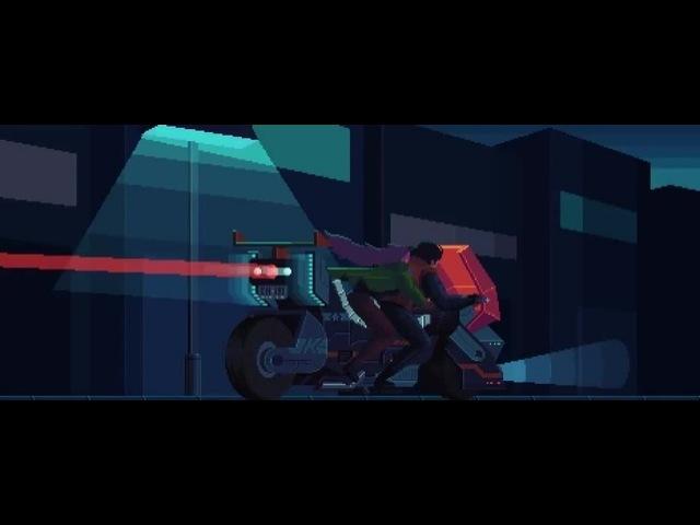 Pixel Motorbike - Tron Music