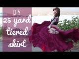 DIY 25 yard skirt - Easy! GypsyATSbelly dancing tiered skirt