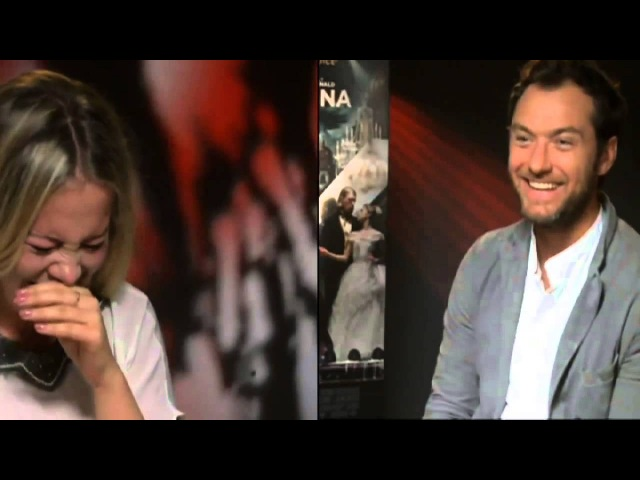 Hilarious Jude Law interview fail PART 2! Jude meets chair missing reporter for the second time