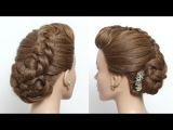 Quick And Easy Hairstyle For Long Hair Tutorial. Elegant Braided Updo