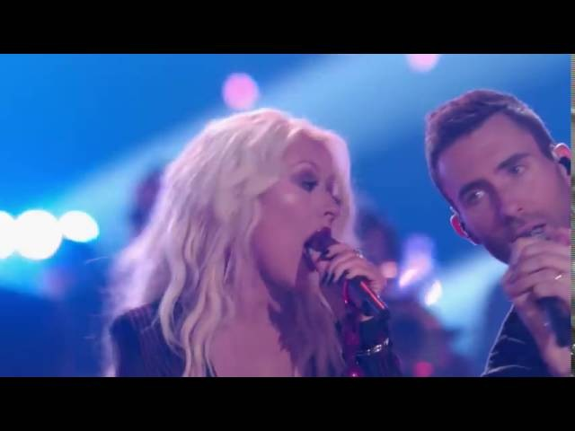 The Voice 2016 Christina Aguilera, Adam Levine, Pharrell Williams and Blake Shelton I Wish