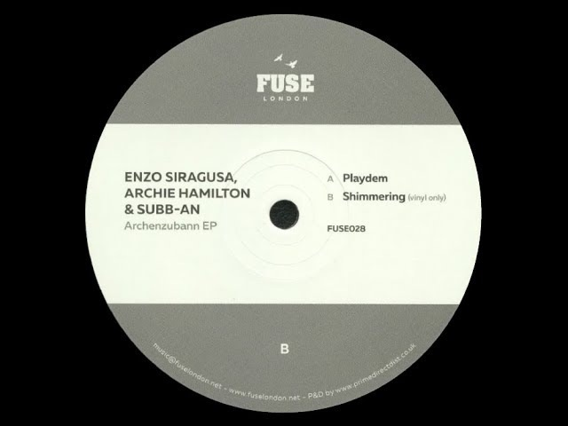Enzo Siragusa, Archie Hamilton Subb-an - Shimmering (Vinyl Only)
