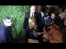 Kylie Minogue arriving and leaving the pre Bafta awards party