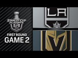 NHL 18 PS4. 2018 STANLEY CUP PLAYOFFS FIRST ROUND GAME 2 WEST KINGS VS GOLDEN KNIGHTS. 04.13.2018. (NBCSN) !