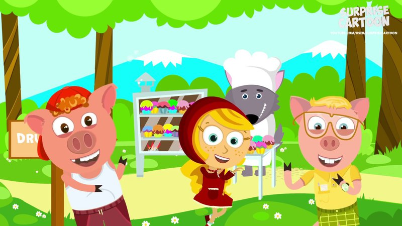 The Muffin Man Song With Three Little Pigs Big Bad Wolf And Little Red Riding Hood