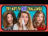 YOUTUBERS REACT TO TRY NOT TO CRY CHALLENGE!