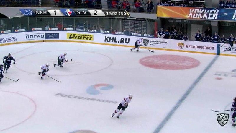 Моменты из матчей КХЛ сезона 17/18 • Гол. 1:3. Павол Скалицки (Слован) совершил индвидуальный проход 19.01