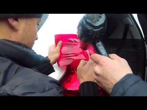 Vinil Ustası Arif. Toyota Pradonun arxa işıqları.