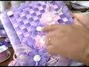 Bordado de fita rosa beijoquinha التطريز بشرائط الساتان تغليف كتاب