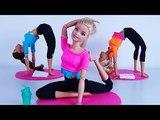 Барби дома занимается гимнастикой!! Видео для девочек. Мультфильм Барби и Кен